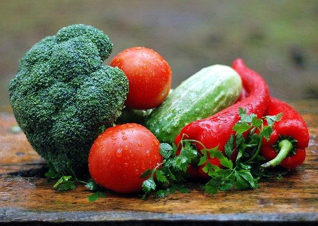 warzywa z żelazem